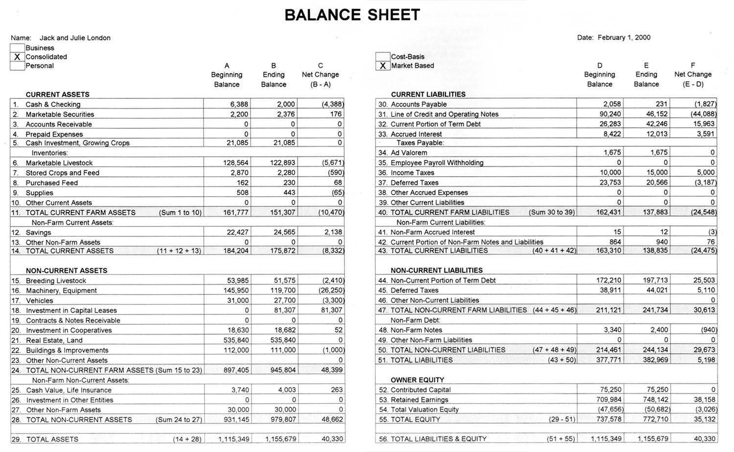 case balance sheet and personal financial information In financial accounting, a balance sheet or statement of financial position is a summary of the financial balances of an individual or organization, whether it be a sole proprietorship, a business partnership, a corporation, private limited company or other organization such as government or not-for-profit entity.