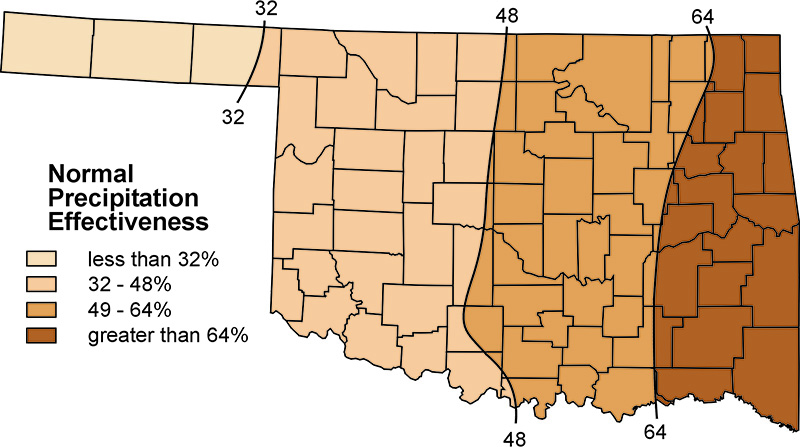 E 993 oklahomas native vegetation types osu fact sheets figure 1b normal precipitation effectiveness adapted from curry 1970 publicscrutiny Image collections
