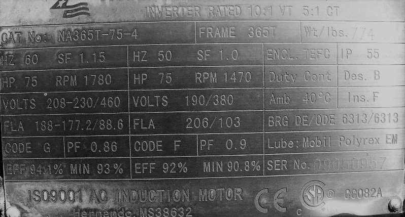 BAE-1292 Understanding Motor and Gear Drive Nameplate Information
