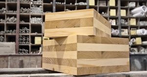 Typical cross laminated timber and it structure.